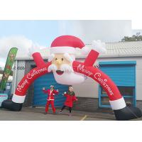 Wholesale Santa Claus Christmas Inflatable Archway 210 D Oxford Cloth For Outdoor Event from china suppliers