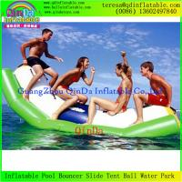 Wholesale Fashion Durbale 0.9mm Thickness PVC Tarpaulin Inflatable Water Totter Seesaw from china suppliers