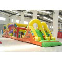 Quality Blast Zone Pirate ' S Bay Inflatable Amusement Park , Inflatable Obstacle Course for sale