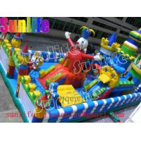 Wholesale Durable Happy Clown Island Inflatable Fun City Commercial Bouncers With Big Playground from china suppliers