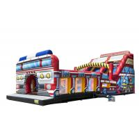 Wholesale Firetruck World Slide Theme Large Inflatable Slide With Digital Printing from china suppliers