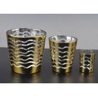 Quality Short Jar Candle Holders For Tea Lights , Glass Tea Candle Holders for sale