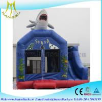 Quality Hansel terrfic shark inflatable stair slide for yard party for sale
