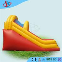 China Yellow giant inflatable games / inflatable dry slide with Open Air on sale