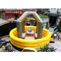 China Yellow Large Inflatable Games / Wrecking Ball Inflatable Bouncy Castle on sale