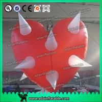 Wholesale 1.5m Inflatable Heart With LED Light For Valentine's Day Event Hanging Decoration from china suppliers