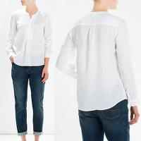 Wholesale Simple White Pure Muslimah Linen Blouse Women Ladies from china suppliers