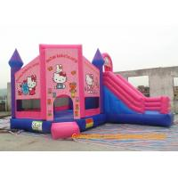 Wholesale Customized Outdoor Playground Inflatable Bouncy Castle , Inflatable Hello Kitty  Bouncer For Rent from china suppliers