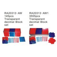 Wholesale Transparent Decimal Block Set, Educational Toy, Math Toy (RA20313-AW) from china suppliers