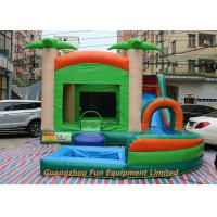 Wholesale Red Commercial PVC Tarpaulin Inflatable Water Slide With Pool Size 7 * 5m from china suppliers