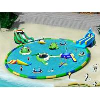 Wholesale Commercial Inflatable Water Park / Pool With Slide for rental from china suppliers
