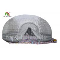 Wholesale Airtight Combo Color Clear Inflatable Bubble Tent 8m Diameter For Outdoor from china suppliers