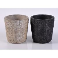 Wholesale Spraying ceramic votive candle holders / Hand Made black candle holders from china suppliers