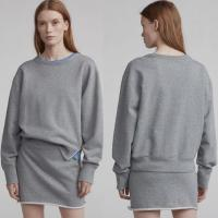 Wholesale Ladies Gray Cotton Two Piece Set Sweatshirt Women from china suppliers