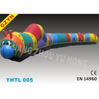 Buy cheap Commercial Plato 0.55mm PVC Inflatable Sports Tunnel YHTL-005 for Children from wholesalers