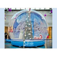 China 3 meters transparent human giant inflatable Christmas snow globe for festival shows and decoration on sale