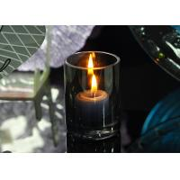 Morden Design Black Glass Candle Holders For Wedding Decoration Candle Glass