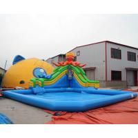 Wholesale Most Popular PVC Blow up kids mobile inflatable octopus water slide amusement park for sale from china suppliers