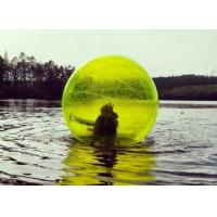 Yellow / Blue Giant Inflatable Water Toys Human Water Bubble Ball