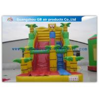 Wholesale Spongebob Big Kid Inflatable Water Slides For Parties , Blow Up Outdoor Water Slides from china suppliers