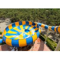Wholesale Colorful Super Bowl Water Slide Playground / Fiberglass Water Slide Water Park Project from china suppliers
