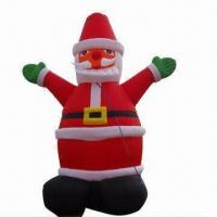 Buy cheap Inflatable Santa Claus, Suitable for Christmas/Indoor/Outdoor Use, Various Sizes from wholesalers