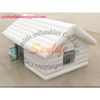 Wholesale inflatable air tight 0.6mm pvc tarpaulin small house white tent from china suppliers