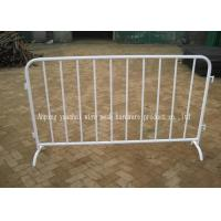China Portable Fixed Leg Temporary Security Fencing Metal Crowd Control Barriers on sale