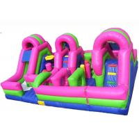 Wholesale Large Inflatable Fun City /  Inflatable Amusement Park With triple Obstacle Course Combo from china suppliers