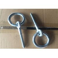 Wholesale Zinc Plated Fasteners Forged Eye Bolts / Eye Bolt With Ring Wood Thread Lag Screw from china suppliers