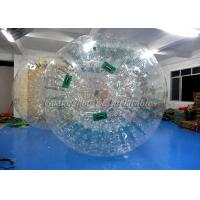 Wholesale Water Walking Inflatable Zorb Ball , Giant Hamster Ball For Humans 3.6m x 2.2m from china suppliers