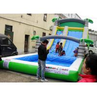 Wholesale Durable Giant Inflatable Water Slide For Adults , Entertainment Jumping Castle Water Slide from china suppliers