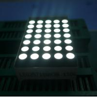 China 3mm 5x7 Dot Matrix Led Display Ultra Thin Yellow Segment Black Face on sale