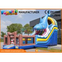 Wholesale Giant Animal Shark Inflatable Dry Slide For Entertainment / Blow Up Bouncer from china suppliers