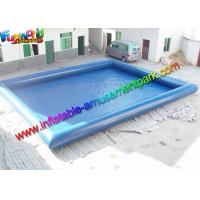 Wholesale Plato 0.9mm PVC Blue Intex Inflatable Swimming Pools For Kids / Adults from china suppliers