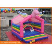 Wholesale Mulit Color Commercial Bouncy Castles Inflatable Unicorn Bouncer Digital Printing from china suppliers