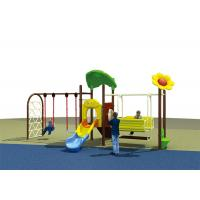 Wholesale Flower Roof Small Swing Sets , Adjustable Single Swing And Slide Set from china suppliers