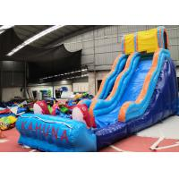 China 0.55mm PVC Inflatable Backyard Water Slide Neat Stitching Thread on sale