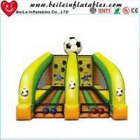 Wholesale kids Football throwing games air soccer goal inflatable football goal from china suppliers