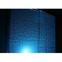 China Computer Controlled Digital Water Curtain Fountain With Lights Modern Design on sale