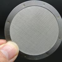 China Round Disc 304 Stainless Steel Filter Mesh 0.25 1 1.5 Inch Plain Weave Style on sale
