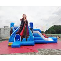 Wholesale School Frozen Anna Bounce House / Commercial Inflatable Combo Bouncy Castle Slide from china suppliers