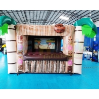 Wholesale Palm Tree Carnival Booth Inflatable Tiki Bar Pub Tent from china suppliers