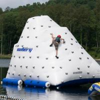 Wholesale Funny Inflatable Water Iceberg / 0.9mm PVC Tarpaulin Plato Water Jumping Games from china suppliers