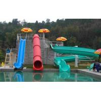 Commercial Fiberglass Kids' Water Slides Water Park Equipment For Swimming Pool