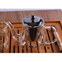 Quality 700Ml Volume Heat Resistant Drinking Glasses Teapot With Stainless Filter And for sale