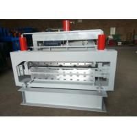Wholesale Color Steel Step Tile Roll Forming Machine Solid Shaft Touch Screen Control from china suppliers