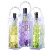 Quality Non-toxic PVC Cooling Ice Wine Bags Vine Cooler Bag with Freezable Non-toxic Cooling Liquid for sale
