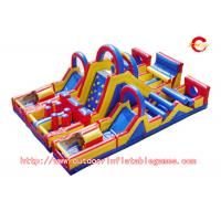 Buy cheap PVC Commercial Grade Inflatable Blow Up Obstacle Course For Water Game from wholesalers