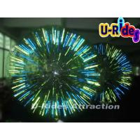China 1.0mm PVC Outdoor Inflatable Water Toys Shining Zorb Ball For Playground on sale